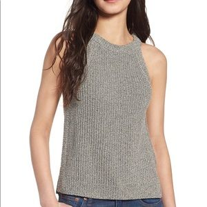 Madewell Valley Sweater Tank Marled Coal